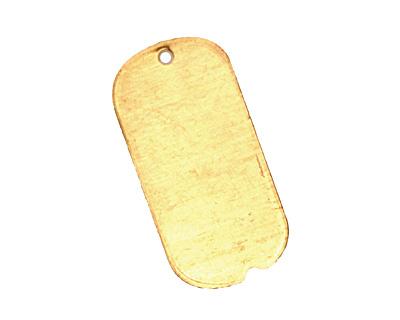 Brass Mini Dog Tag Blank 12x25mm