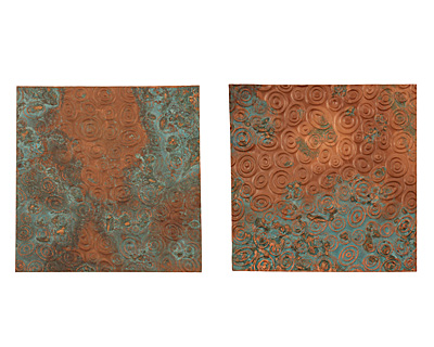 Lillypilly Azul Groovy Circles Embossed Patina Copper Sheet 3