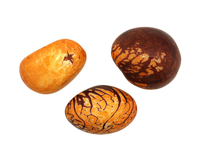 Tagua Nut Gold Nugget 40-45x32-36mm