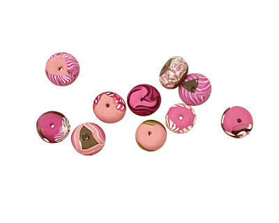 Humble Beads Polymer Clay First Blush Tiny Disk 7-8x10-12mm