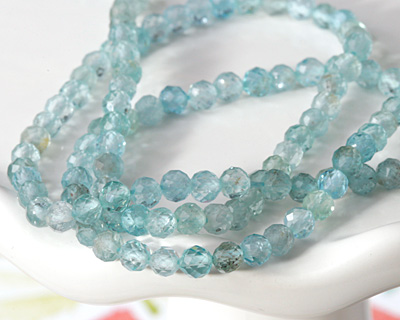Apatite Faceted Round 3-4mm