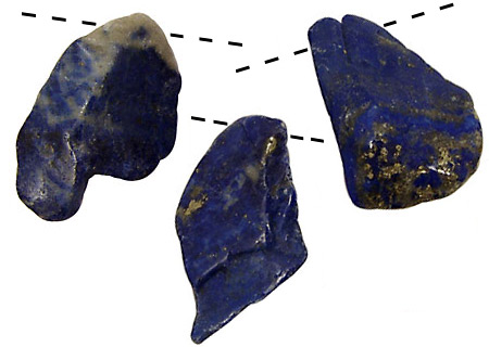 Lapis Freeform Nugget Drops (various sizes)