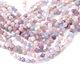 Multi Gemstone (Amethyst, Aquamarine, Rose Quartz) Star Cut Round 7-8mm