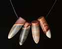 Polychrome Jasper Pointed Drop Pendant 11-13x36-40mm