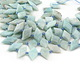 Brazil Amazonite Faceted Side-Drilled Diamond 13-14x26-28mm
