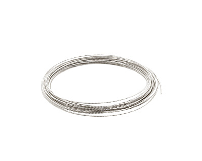 German Style Wire Silver (plated) Fancy Round 22 gauge, 5 meters