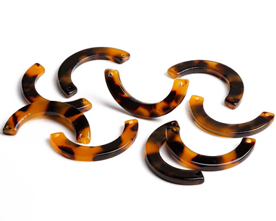 Zola Elements Tortoise Shell Acetate U-Shape Link 30x15mm