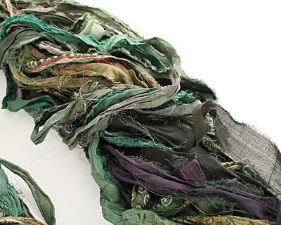Emerald 100% Silk Sari Ribbon