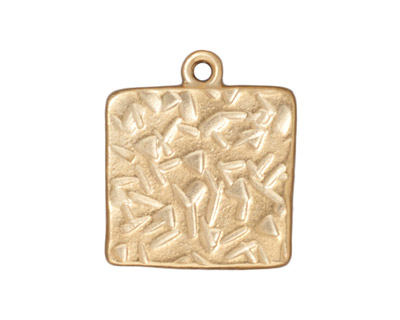 TierraCast Gold (plated) Large Square Frame Drop 21x25mm