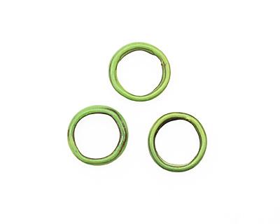 C-Koop Enameled Metal Lime Large Ring 16-17mm