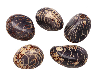 Tagua Nut Midnight Nugget 40-45x32-36mm