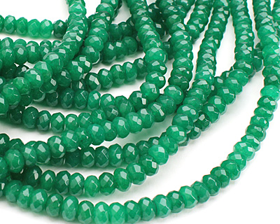 Emerald Colorful Jade Faceted Rondelle 8mm