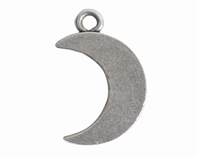 Nunn Design Antique Silver (plated) Mini Crescent Moon Charm 12x18mm