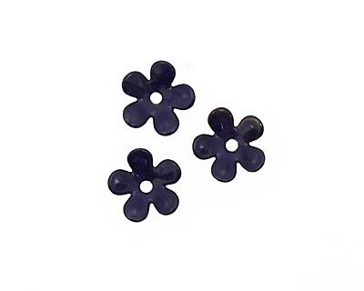 C-Koop Enameled Metal Dark Blue 5 Petal 15mm
