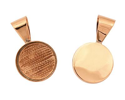 Copper Circle Bezel 23mm