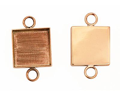 Copper Square Bezel Link 19mm