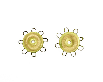 Jangles Ceramic Chartreuse, Sand Small Pinwheel 27-28mm