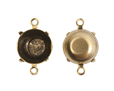 Nunn Design Antique Gold (plated) Circle Prong Setting 18x12mm