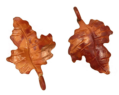Patricia Healey Copper Small Maple Leaf Charm 17x25mm