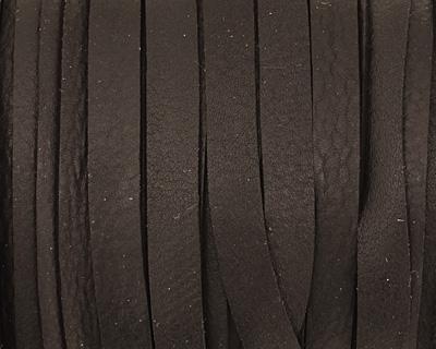 Black Deertan Leather Lace 5mm