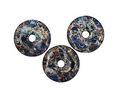 Midnight Blue Impression Jasper & Pyrite Donut 45mm