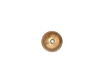 TierraCast Gold (plated) Classic Dome Bead Cap 6x9mm