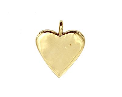 Brass Heart Bezel 25mm