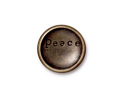 TierraCast Antique Brass (plated) Rock & Roll Snap Cap 18mm