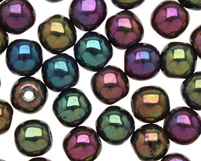 Czech Glass Iris Purple Round 4mm