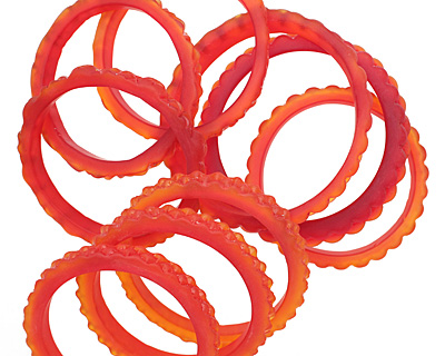Trinket Foundry Cherry Fancy Glass Ring 50-62mm