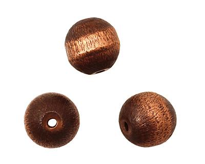 Missficklemedia Patinated Antiqued Satin Brushed Round 10mm