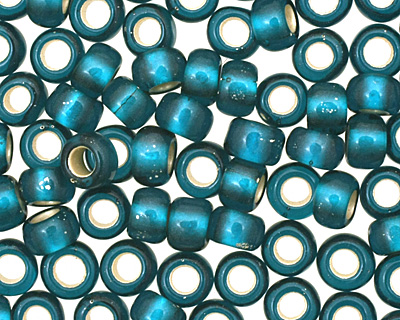 TOHO Teal (with Frosted Silver Lining) Round 8/0 Seed Bead