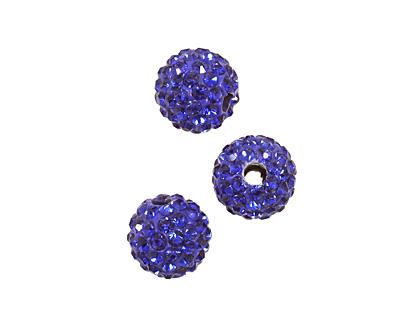 Cobalt Pave Round 8mm (1.5mm hole)