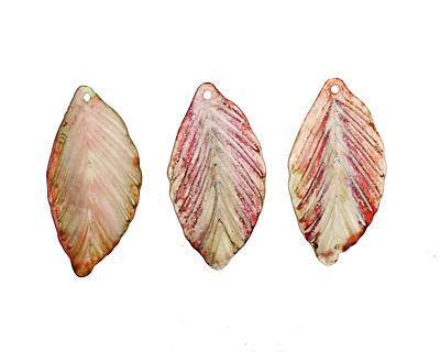 Vintage Meadow Acrylic Echinacea Birch Leaf 19x36mm