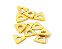 Greek Gold (plated) Triangle Washer (large hole) 11mm
