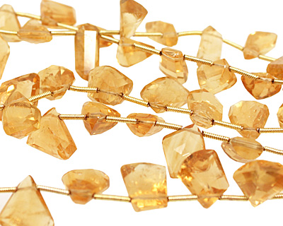 Citrine Faceted Freeform Drop 6-9x10-14mm
