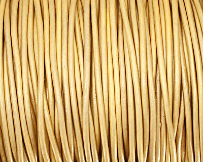 Gold (metallic) Round Leather Cord 2mm