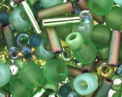 TOHO Wasabi Green Seed Bead Mix