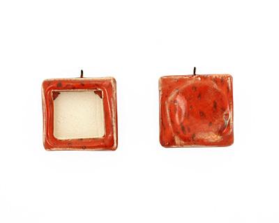Jangles Ceramic Red Square Bezel 28-29x31-32mm
