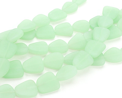 Opaque Seafoam Green Recycled Glass Flat Freeform 21-23x18-20mm