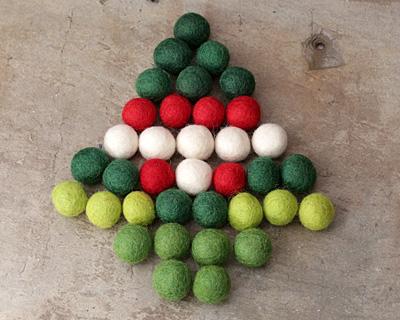 O' Christmas Tree Felt Round Mix