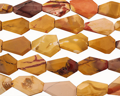 Mookaite Faceted Flat Slab 20-38x10-26mm