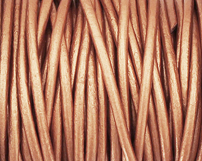 Bronze Round Leather Cord 2mm