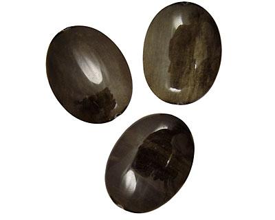 Rainbow Obsidian Flat Oval 40x30mm