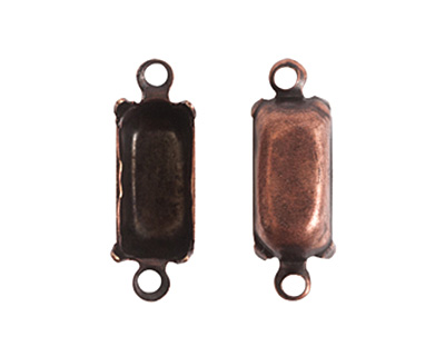 Nunn Design Antique Copper (plated) Rectangle Prong Setting 16x6mm