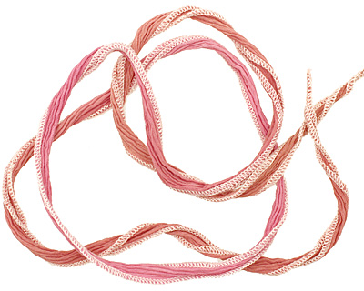 Mocha Pink Blend Hand Dyed 100% Silk Ribbon 1/2