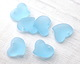 Turquoise Bay Recycled Glass Puffed Sweeping Heart Pendant 19x18mm