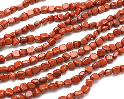 Red Jasper Tumbled Nugget 9-10x7-9mm