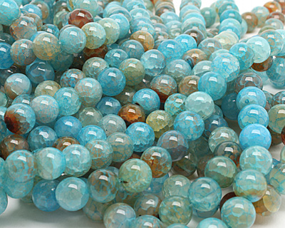 Blue Haze Fire Agate Round 12mm