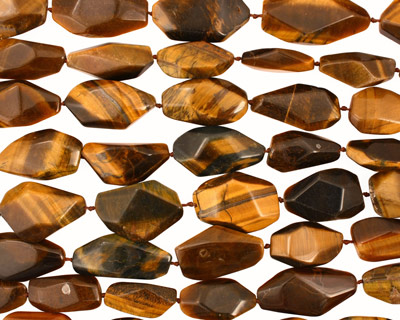 Tiger Eye Faceted Flat Slab 25-35x12-20mm